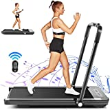 HIROLLOP 2 in 1 Folding Under Desk Treadmill,2.25HP Electric Treadmill with Bluetooth Speaker,Installation-Free with Remote Control & LED Display,Walking Running Machine for Home Office Gym(Black)