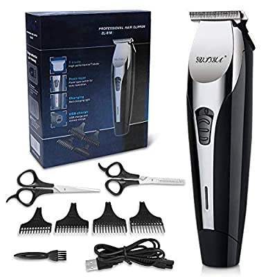 Mens Hair Clippers,Hair Cutting for Men/Kids/Baby/Barber Hair Trimmers, Professional Hair Clipper, Haircut Barber Trimmer Kit with Guide Combs Brush by Sufiya