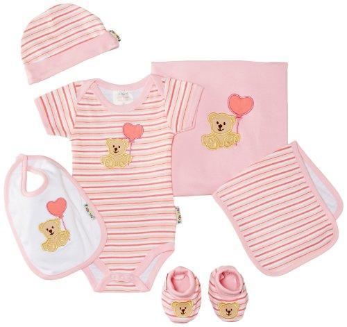 Playshoes Unisex - Baby Bekleidungsset, Geschenk-Set Für Neugeborenee, 6-Teilig, Gr. One Size, Rosa (Rose)