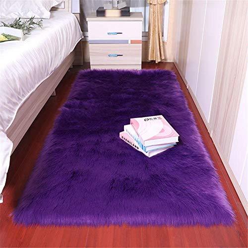 RUGMYW Preisgünstige Teppich Flur Lila Plus Plüsch antirutschmatte für Teppich kunstfell Teppich 60X90cm