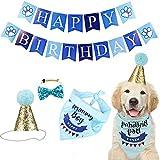 ENCO Bandana de Cumpleaños de Perro,Bonita Bufanda con Cumpleaños de Perro, para Decoración de Cumpleaños de Perro, Gato, Mascota o Cachorro, Accesorios de Fiesta
