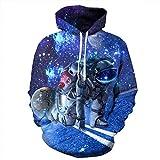 SAYM Unisex Galaxy Pockets 3D Pullover Hoodie Hooded Sweatshirts Hoodies NO7 XXXL