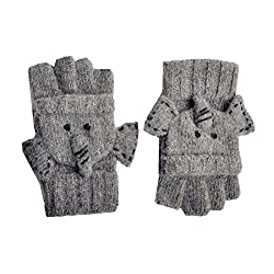 Image: YAN + LEI Elephant Knitted Gloves for Women