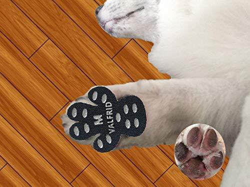Valfrid, Hundepfotenschutz, strapazierfähig, rutschfest, 24 Stück, selbstklebende Einweg-Hundeschuhe, Sockenersatz