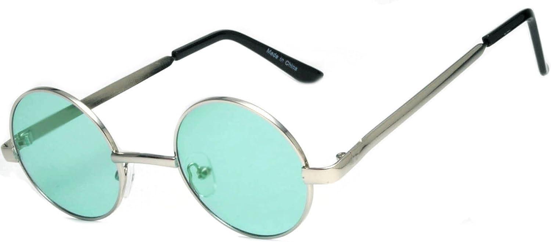 Round Retro Vintage Circle Tint & Mirror colord Lens 4355 mm Sunglasses Metal