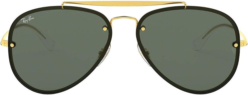 Ray-ban occhiali da sole aviator in oro verde di blaze, per uomo 0RB3584N