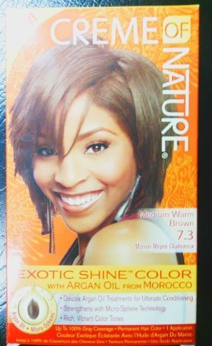Creme of Nature Exotic Shine Color, Medium Warm Brown, 7.3 Fluid Ounce by Creme of Nature