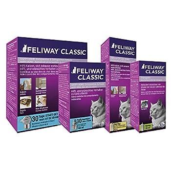 FELIWAY Classic – Anti-stress pour Chat – Pack de 3 Recharges - 3 x 48 ml