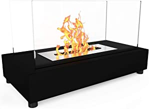 Regal Flame Avon Ventless Indoor Outdoor Fire Pit Tabletop Portable Fire Bowl Pot Bio Ethanol Fireplace in Black - Realist...