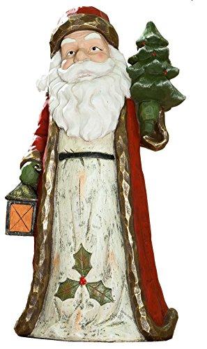 dekojohnson GILDE Père Noël avec Sapin et Lanterne dans la Main 19 x 22 x 50 cm