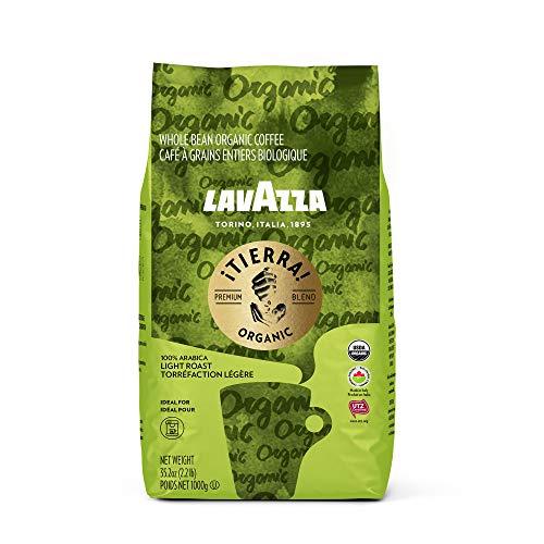 Lavazza Organic ¡Tierra! Whole Bean Coffee Blend, Light Roast, 2.2 LB (packaging may vary) ,100% Premium Arabica, USDA Organic, Canada Organic, UTZ & Euro Leaf Organic certified;100% sustainably grown