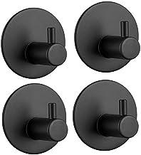 Voarge Zelfklevende haken van roestvrij staal 304, 4 aan de muur gemonteerde handdoekhaken en kleerhaken, geen stansen nod...