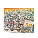 Puzzle de hormigas Madrid 1080 piezas con corte invisible. Medidas del puzle 48,5 cm x 68,5 cm.