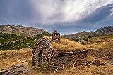 ELEVENFF Pintar por número para niños y adultosParque Nacional de Andorra Coma Pedrosa Parque Natural de montaña Juego de Pintura de Bricolaje para Adultos para niños Principiantes-sin Marco
