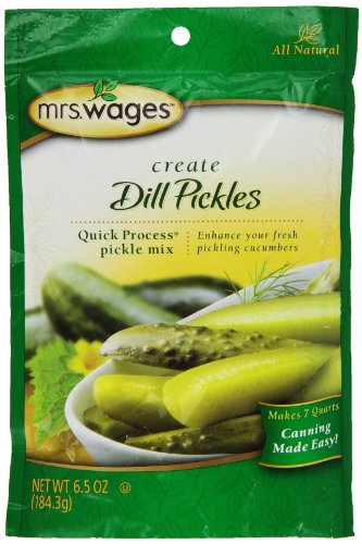 Mrs. Wages Quick Process Dill Pickle Mix 6.5 Oz, 6 Packages