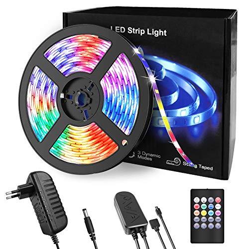 LED Strips, BACKTURE 5M LED Streifen 150 LEDs 5050RGB Licht mit IR...