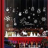 Hidreams 153 PCS Christmas Window Decals Stikcers, Xmas Snowflake Window Clings 8 Sheets