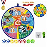 Lbsel Kids Game Double-Sided Dart Board - 8 Sticky Balls - Excellent Indoor Game and Party Games - Safe Dart...