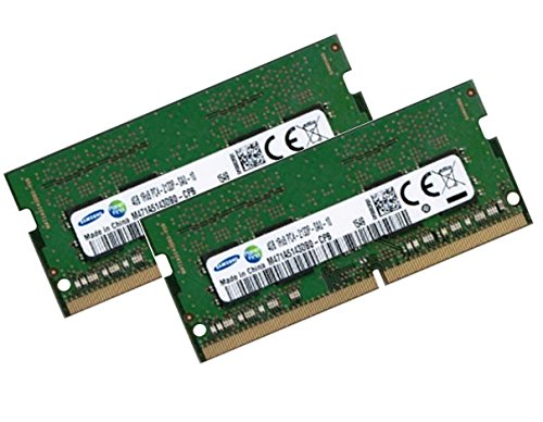 SAMSUNG 8GB Dual Channel Kit 2 x 4 GB 260 pin DDR4 2133 SO-DIMM (2133Mhz, PC4-17000, CL15) passend für alle Intel Skylake Notebooks mit DDR4 Standard
