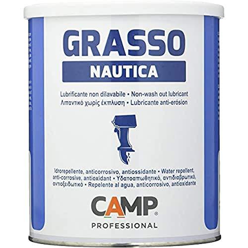 Camp GRASSO NAUTICA, Grasso lubrificante protettivo di colore bianco, Anticorrosivo, Idrorepellente, Non dilavabile, Specifico per nautica, 1 kg