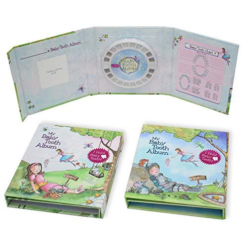 乳歯 ケース 乳歯ケース 抜けることが楽しくなる! 写真や記録も入れられる 乳歯入れ ベビートゥースアルバム Baby Tooth Flapbook (日本正規品) Blue