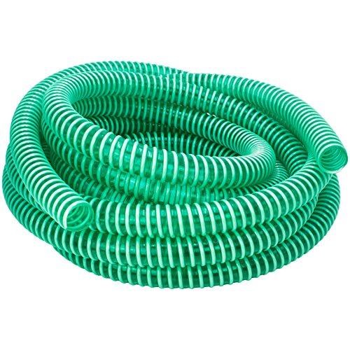 "awm® Saugschlauch - 15 Meter Grün 1 1/4\"" (32mm) Spiralschlauch Förderschlauch Druckschlauch *32/38"