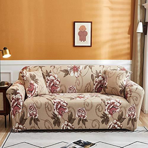 WXQY Funda de sofá elástica para Sala de Estar Funda de protección para sofá de Esquina en Forma de L Funda de protección para sofá con protección para Mascotas con Todo Incluido A9 4 plazas
