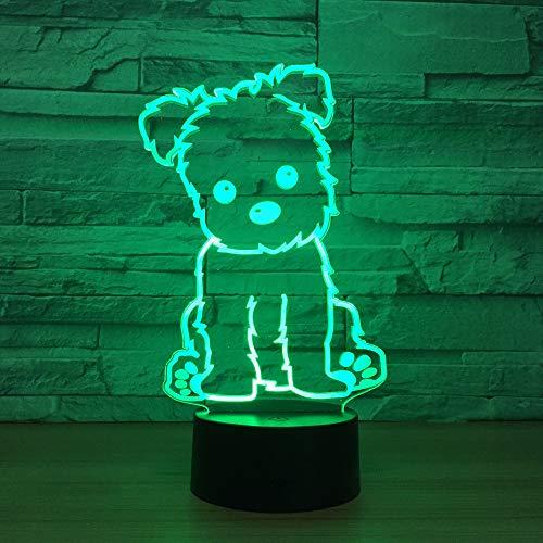 USB-Touch-3D-Lampe/kreatives LED-Nachtlicht/Nachtlicht-Lampe/Kinder-Schrankbeleuchtung/LED-Sensor/ideal für Kunst und Handwerk/Halloween-Geschenk, Hund
