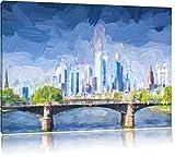 interessante Skyline von Frankfurt am Main Format: 80x60
