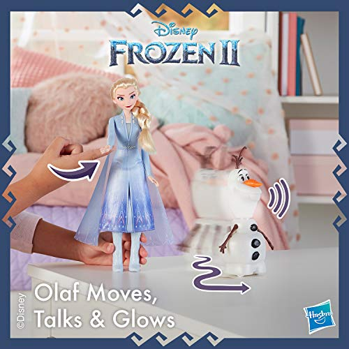 Disney Frozen Talk and Glow Olaf and Elsa Dolls, Remote Control Elsa Activates Talking, Dancing, Glowing Olaf, Inspired by Disney's Frozen 2 Movie - Toy For Kids Ages 3 and Up