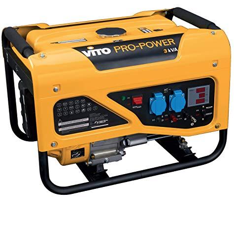 VITO Professional 3Kva Benzin Stromerzeuger 2700W 6.5PS Notstromaggregat (VIG38L 3kVA)