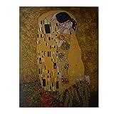 El Beso  Gustav Klimt - Cuadro pintado a mano, medidas...