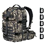 Vihir 40L Military Tactical Backpack - Army Molle Bug Out Bag Sport Outdoor