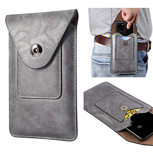 Para Samsung Galaxy S20 FE, Note 20, Note20, Note20 Ultra, s21ultra, s21plus, s20ultra funda de cuero para teléfono celular, bolsa de cintura universal para hombre para exteriores