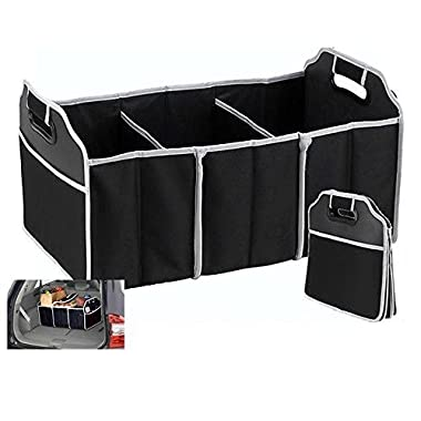 TZIPCO'S Portable Collapsible Folding Flat Trunk Auto Organizer for Car SUV Truck Van,21 X 12.5 X 12.5
