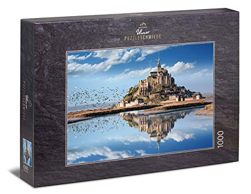 Ulmer Puzzleschmiede - Puzzle Mont Saint-Michel - Puzzle 1000 pièces - la célèbre île rocheuse de Normandie