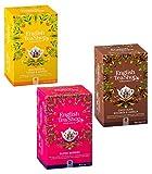 English Tea Shop Colección de té de hierbas orgánicas: 1 x Lemongrass y jengibre, 1 x Frutos rojos, 1 x Chocolate Rooibos Vanilla - 3 x 20 Bolsitas de té (110 gramos)