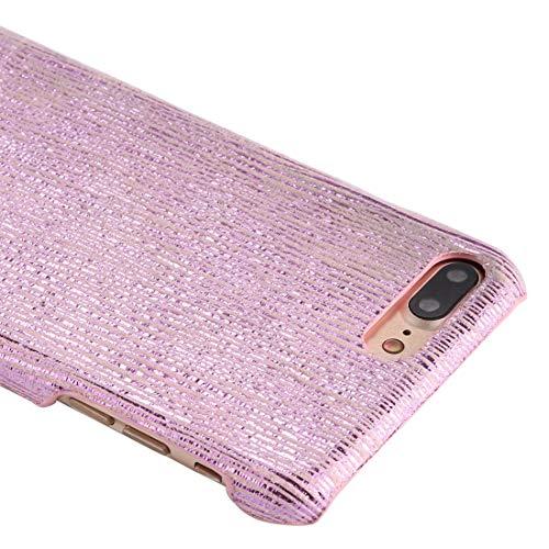 Wckxy Teléfono for el iPhone Plus 8 y 7 Plus PC centelleo del Modelo de Las Rayas de protección Cubierta Posterior (Color : Rose Gold)