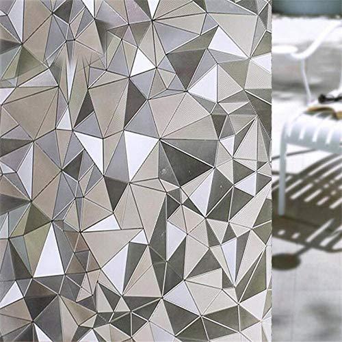 Fensterfolie Unregelmäßige wasserdichte PVC-Fensterfolien Decken Klebfreie 3D-Statische Dekorative Sichtschutzfenster-Glasaufkleber Ab