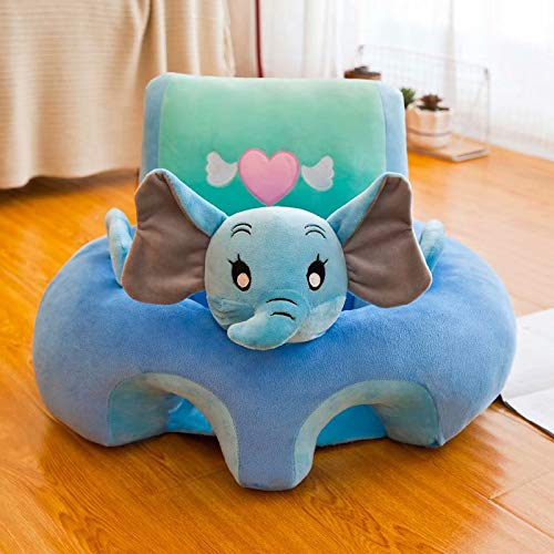 Doyeemei Baby Soft Stuhl Waschbare Wiege Sofa Stuhl Baby Sofa Sitz Kleinkind Spielzeug Kissen Abnehmbarer Stützsitz Cartoon Plüschsitz elephant 35 * 40 * 50cm