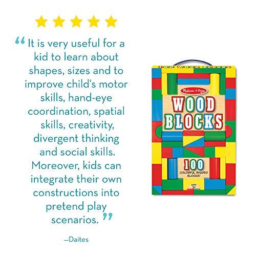 Melissa & Doug 100-Piece Wood Blocks Set