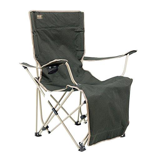 HTZ Chaises Pliantes Chaises De Pêche En Plein Air Chaise Pliante Plage Chaise De Camping Salon Inclinable Chaise Publicitaire Dossier Public Paresseux Chargement 150 Kg 126x90x89cm Vert A++