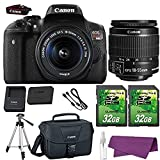 Canon EOS Rebel T6i DSLR Camera with Canon EF-S 18-55mm f/3.5-5.6 is STM Lens + 2 Pieces 32GB SD Memory Card + Canon Bag + Cleaning Kit