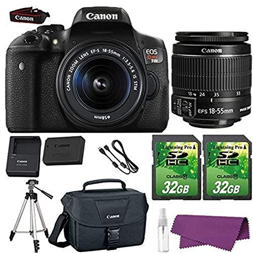 Canon EOS Rebel T6i DSLR Camera with Canon EF-S 18-55mm f/3.5-5.6 IS STM Lens