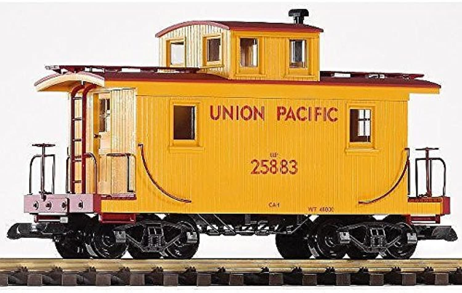 PIKO G SCALE MODEL TRAINS - UNION PACIFIC WOOD CABOOSE 25883 - 38830 by Piko