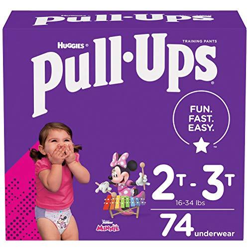 Pull-Ups Girls' Potty Training Pants Training Underwear Size 4, 2T-3T, 74 Ct