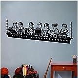 Decoración de la sala de juegos para niños Robots de dibujos animados Lego Tatuajes de pared Robots Murales de vinilo Pegatina de pared extraíble Lego de dibujos animados 57cmx21cm
