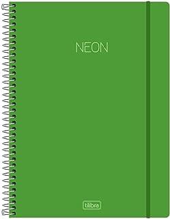 Caderno Universitário Capa Plástica, Tilibra, Neon, 302490, 80 Folhas, 1 Matéria, Verde