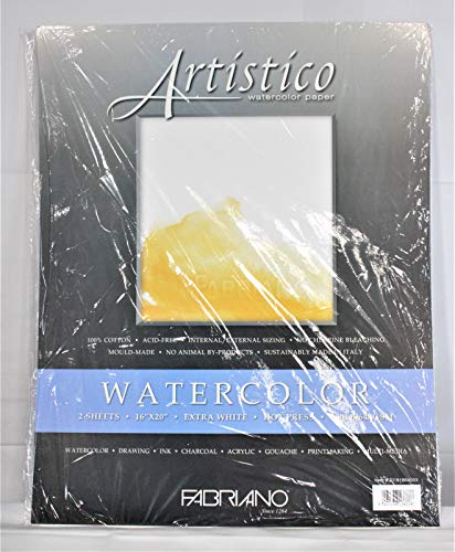 Fabriano Artistico 300 lb. Hot Press 2-Pack 16x20' - Extra White