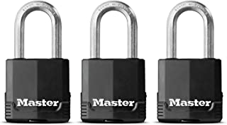 Master Lock Not Available M115XTRILF Magnum Keyed Padlock, ( Pack of 1) - Packaging may Vary